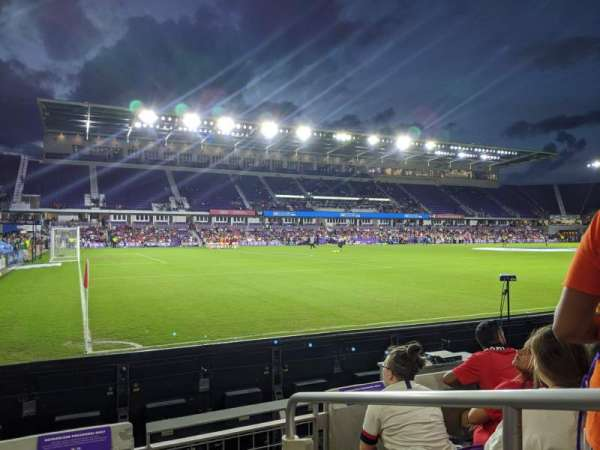Exploria Stadium, secção: 1, fila: D, lugar: 1