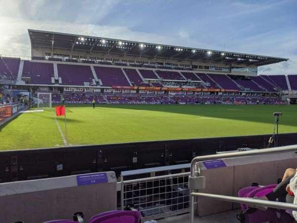 Exploria Stadium, secção: 1, fila: D, lugar: 2