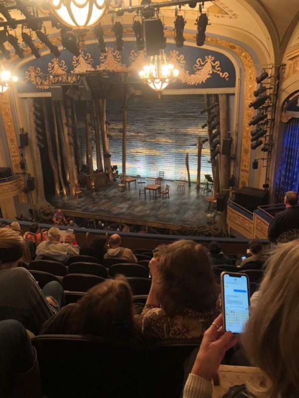 Gerald Schoenfeld Theatre, secção: Mezzanine R, fila: K, lugar: 16