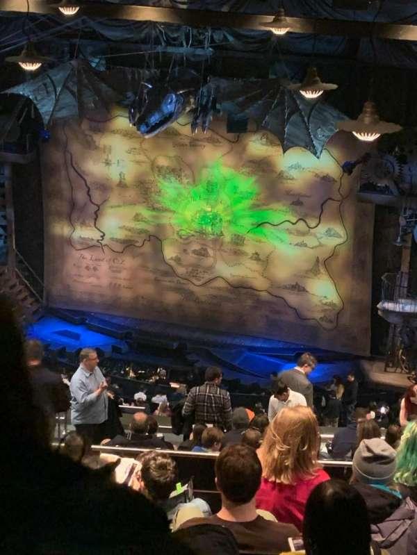Gershwin Theatre, secção: Rear Mezzanine R, fila: N, lugar: 14