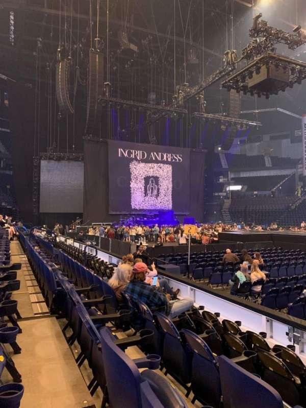 Bridgestone Arena, secção: 116, fila: EE, lugar: 2