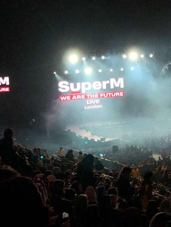The O2 Arena, secção: 103, fila: X, lugar: 96