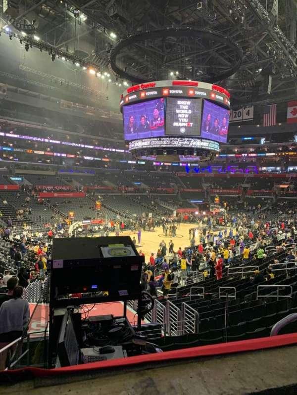 Staples Center, secção: PR9, fila: 1, lugar: 5