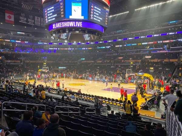 Staples Center, secção: 109, fila: 14, lugar: 1