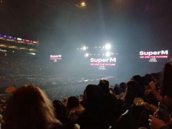 The O2 Arena, secção: 111, fila: M, lugar: 330