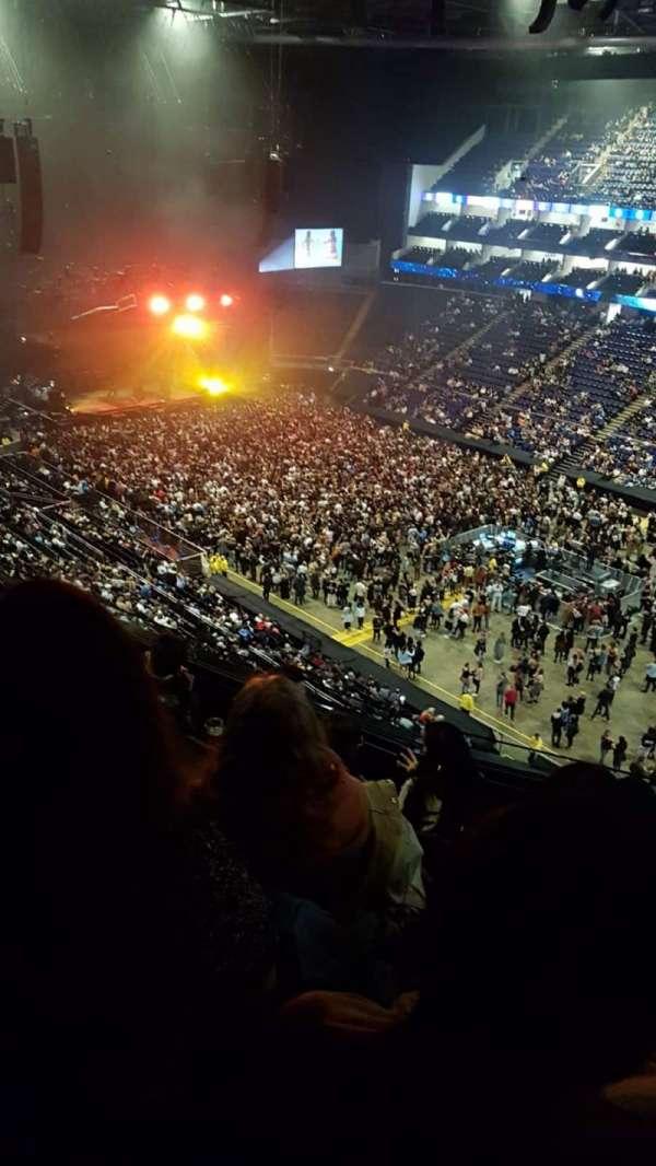 the o2 arena, secção: 407, fila: E, lugar: 596