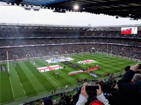 Twickenham Stadium, secção: U11, fila: L, lugar: 291