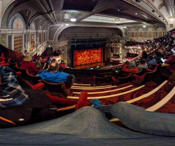 Edinburgh Playhouse, secção: Balcony, fila: K, lugar: 46
