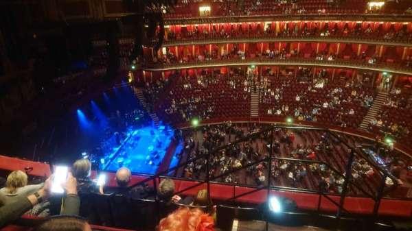 Royal Albert Hall, secção: Rausing Circle Q, fila: 4, lugar: 29