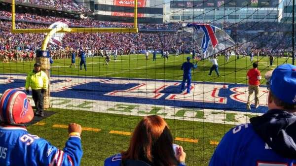 Buffalo Bills Stadium, secção: 101, fila: 3, lugar: 1