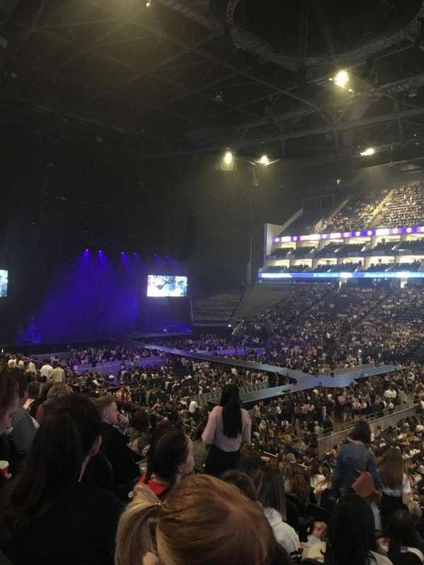 The O2 Arena, secção: 103, fila: X, lugar: 113