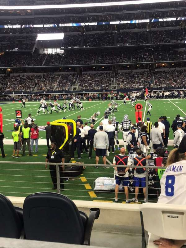 AT&T Stadium, secção: C112, fila: 4, lugar: 1