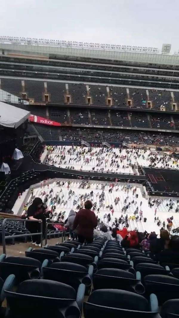 Soldier Field, secção: 440, fila: 23, lugar: 3