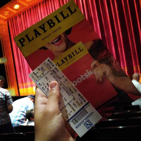 Marquis Theatre, secção: Orchestra R, fila: k, lugar: 14