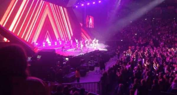 The O2 Arena, secção: 101, fila: J, lugar: 23