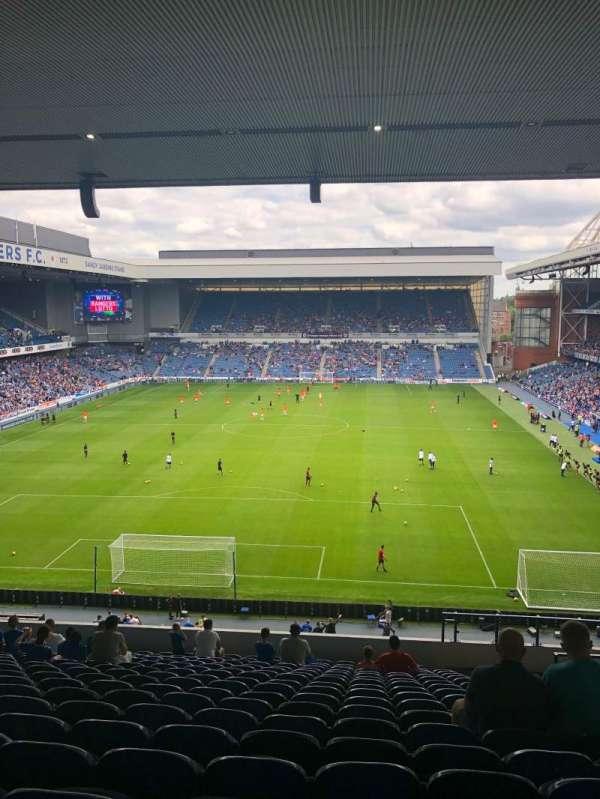 Ibrox Stadium, secção: BR2, fila: S, lugar: 57