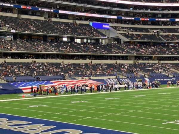 AT&T Stadium, secção: 145, fila: 16, lugar: 10
