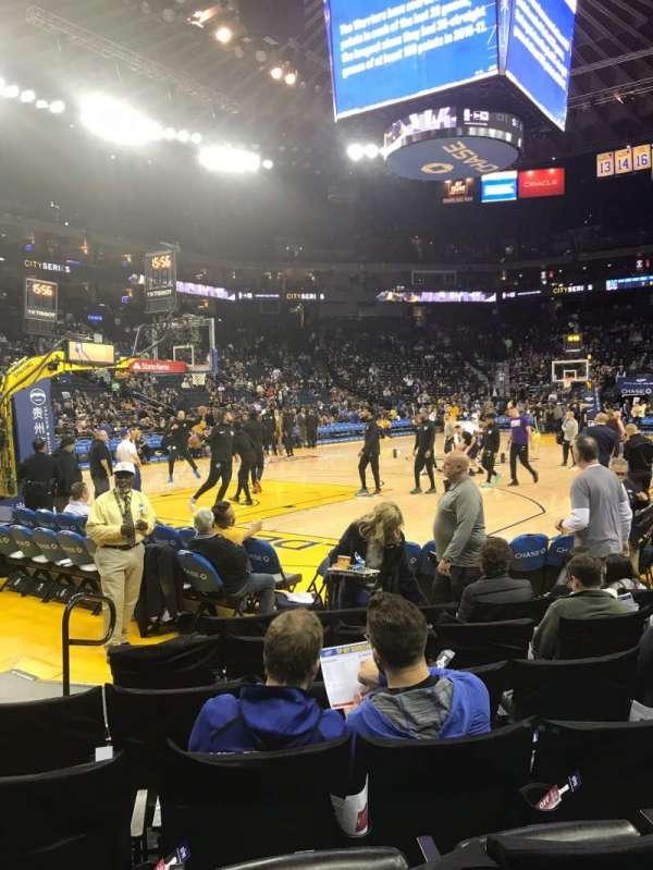 Oakland Arena, secção: 105, fila: 2, lugar: 18