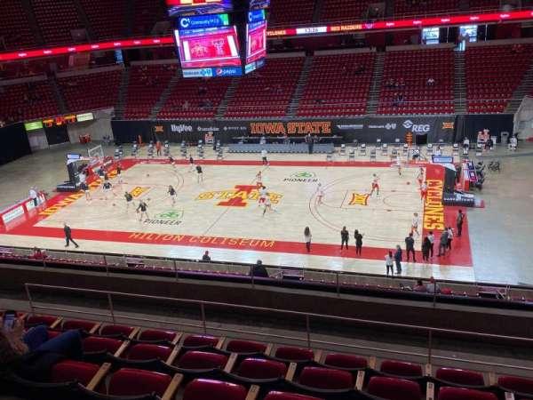 Hilton Coliseum, secção: 231, fila: 6, lugar: 5