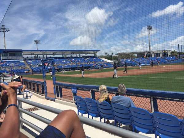 TD Ballpark, secção: 101, fila: 1, lugar: 14