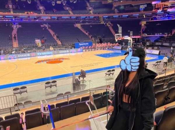 Madison Square Garden, secção: 117, fila: 6, lugar: 1