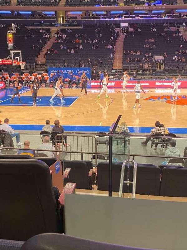 Madison Square Garden, secção: 117, fila: 7, lugar: 2
