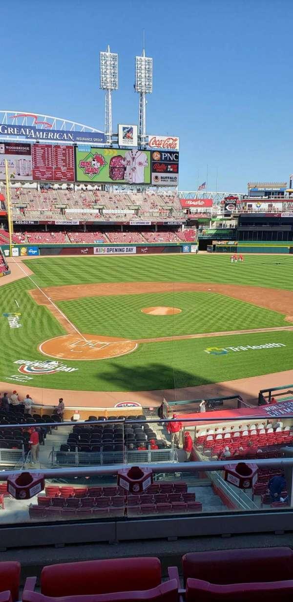 Great American Ball Park, secção: 226, fila: C, lugar: 1