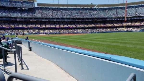 Dodger Stadium, secção: 46FD, fila: A, lugar: 14