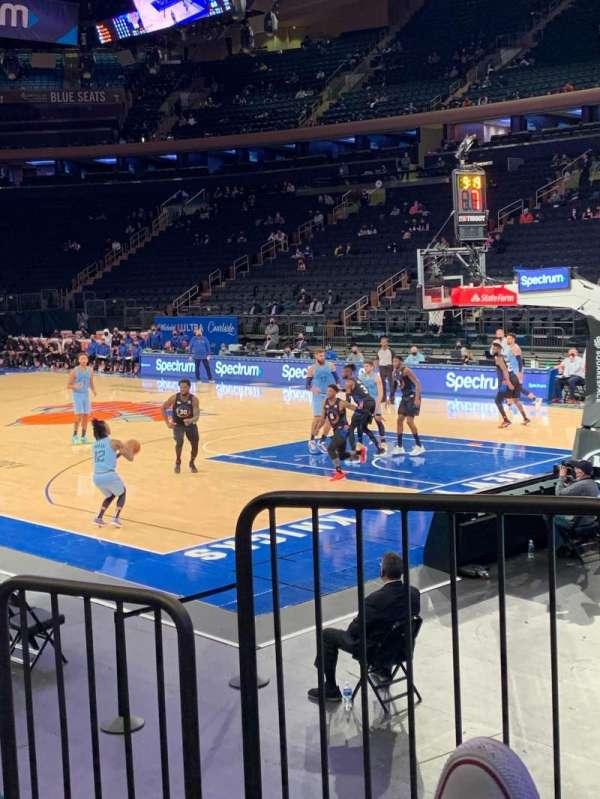 Madison Square Garden, secção: 120, fila: 6, lugar: 1