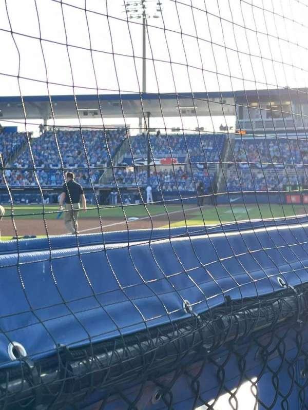 TD Ballpark, secção: 114, fila: 1, lugar: 2