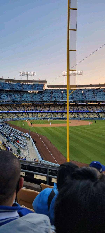 Dodger Stadium, secção: 166LG, fila: E, lugar: 4