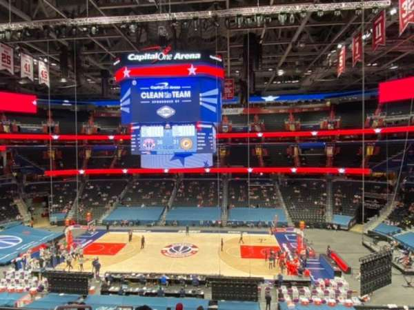 Capital One Arena, secção: 201, fila: H, lugar: 3