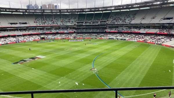 Melbourne Cricket Ground, secção: Q12, fila: C, lugar: 7