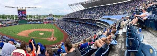 Kauffman Stadium, secção: 415, fila: E, lugar: 4