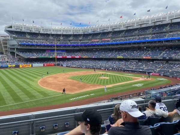 Yankee Stadium, secção: 227B, fila: 5, lugar: 8