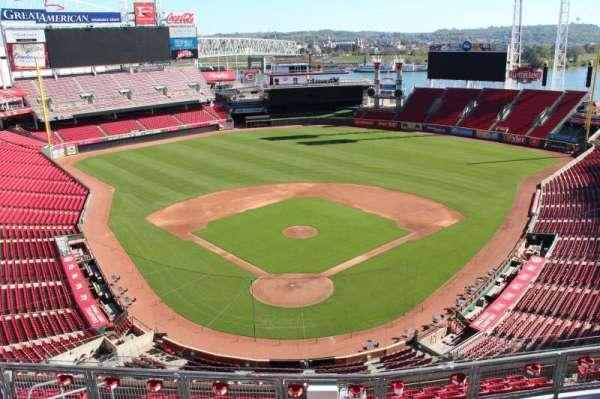 Great American Ball Park, secção: 524, fila: a, lugar: 11