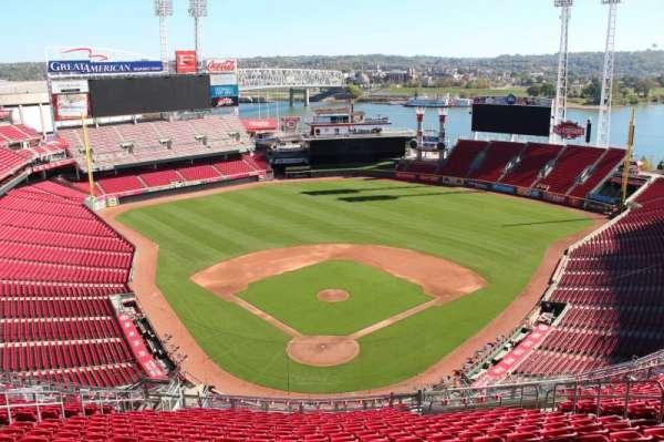 Great American Ball Park, secção: 524, fila: r, lugar: 12