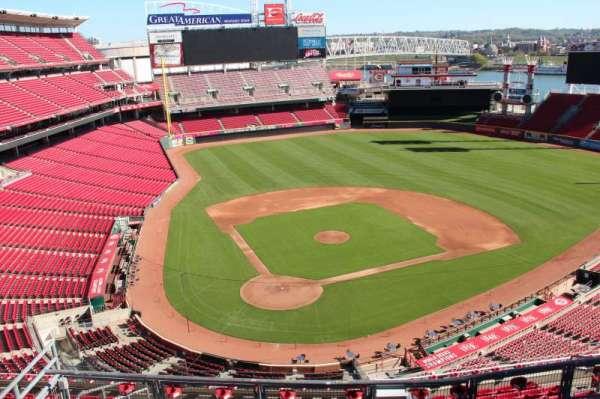 Great American Ball Park, secção: 526, fila: a, lugar: 9