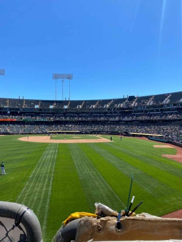Oakland Coliseum, secção: 134, fila: 27, lugar: 10