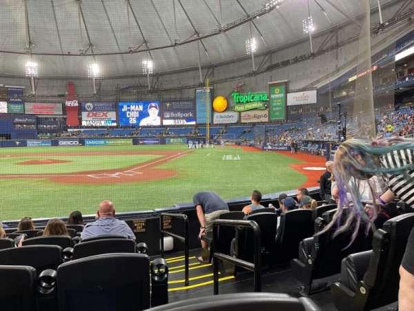 Tropicana Field, secção: 105, fila: K, lugar: 6