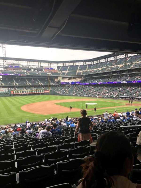 Coors Field, secção: 142, fila: 37, lugar: 5