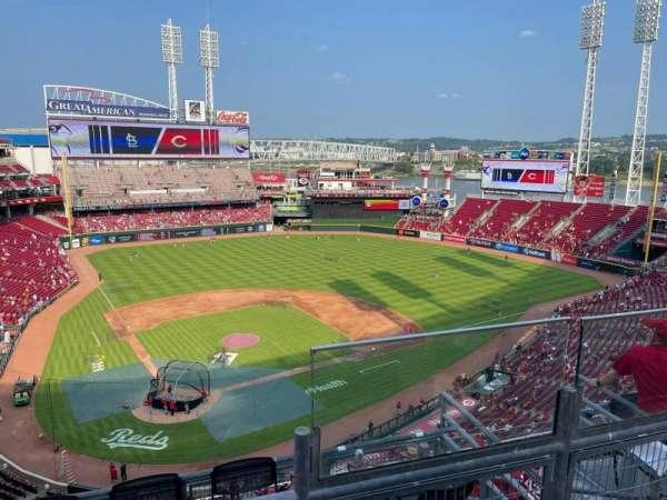 Great American Ball Park, secção: 526, fila: B, lugar: 5