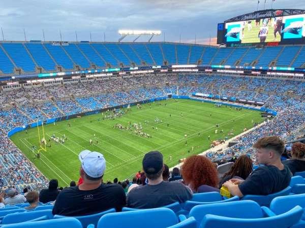 Bank of America Stadium, secção: 521, fila: 20, lugar: 9