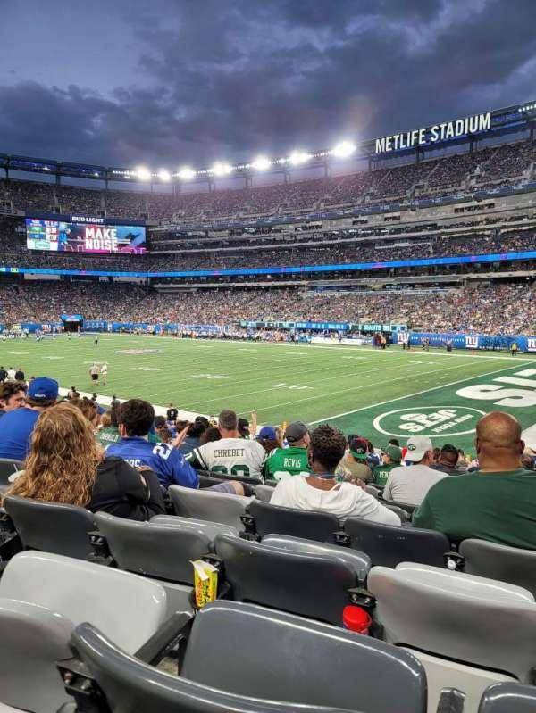 MetLife Stadium, secção: 133, fila: 18, lugar: 3