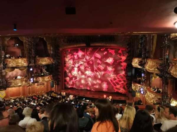 Lyceum Theatre (West End), secção: Royal Circle, fila: J, lugar: 9