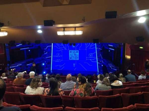 Adelphi Theatre, secção: Dress Circle, fila: O, lugar: 10