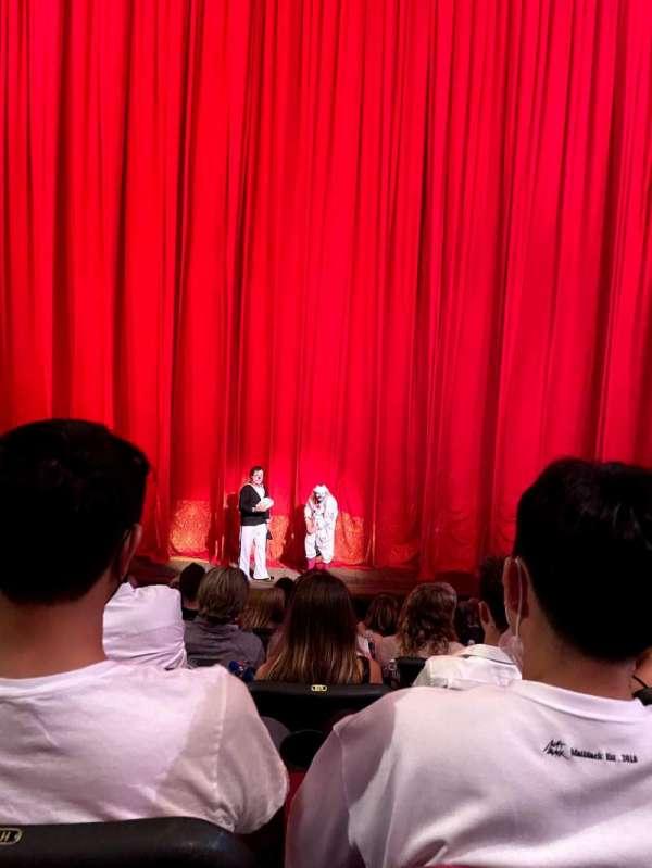 O Theatre, secção: 103, fila: J, lugar: 11