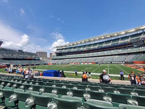 Paul Brown Stadium, secção: 106, fila: 7, lugar: 7