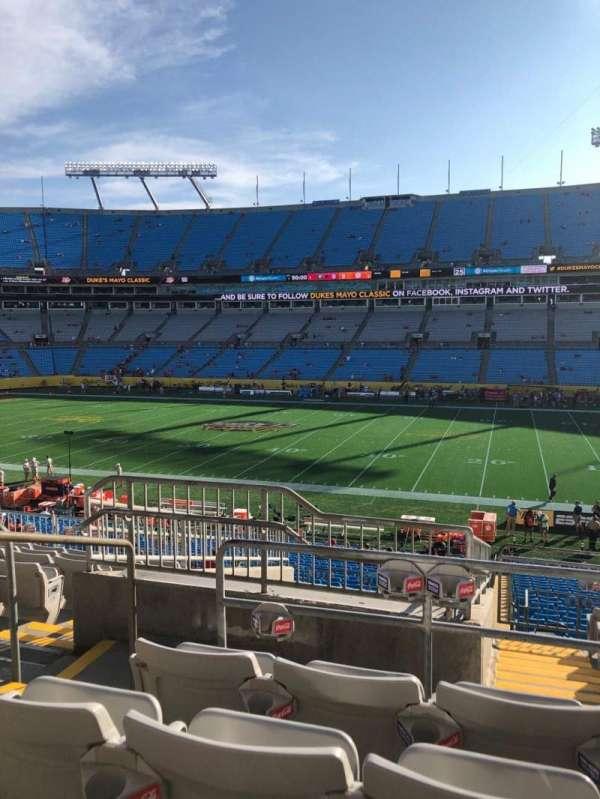 Bank of America Stadium, secção: 313, fila: 10, lugar: 18