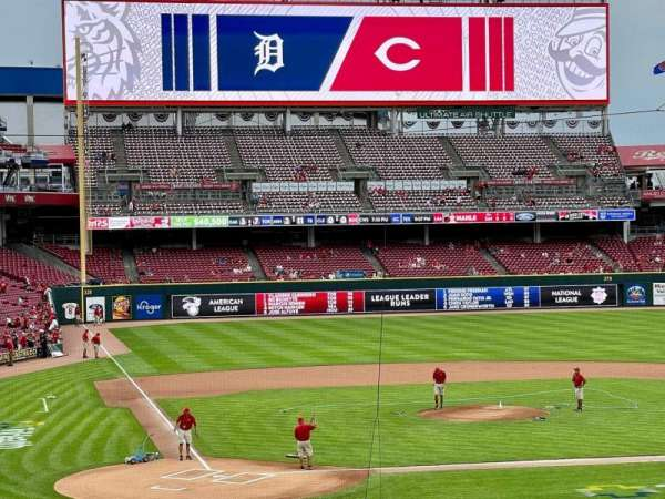 Great American Ball Park, secção: 126, fila: K, lugar: 1